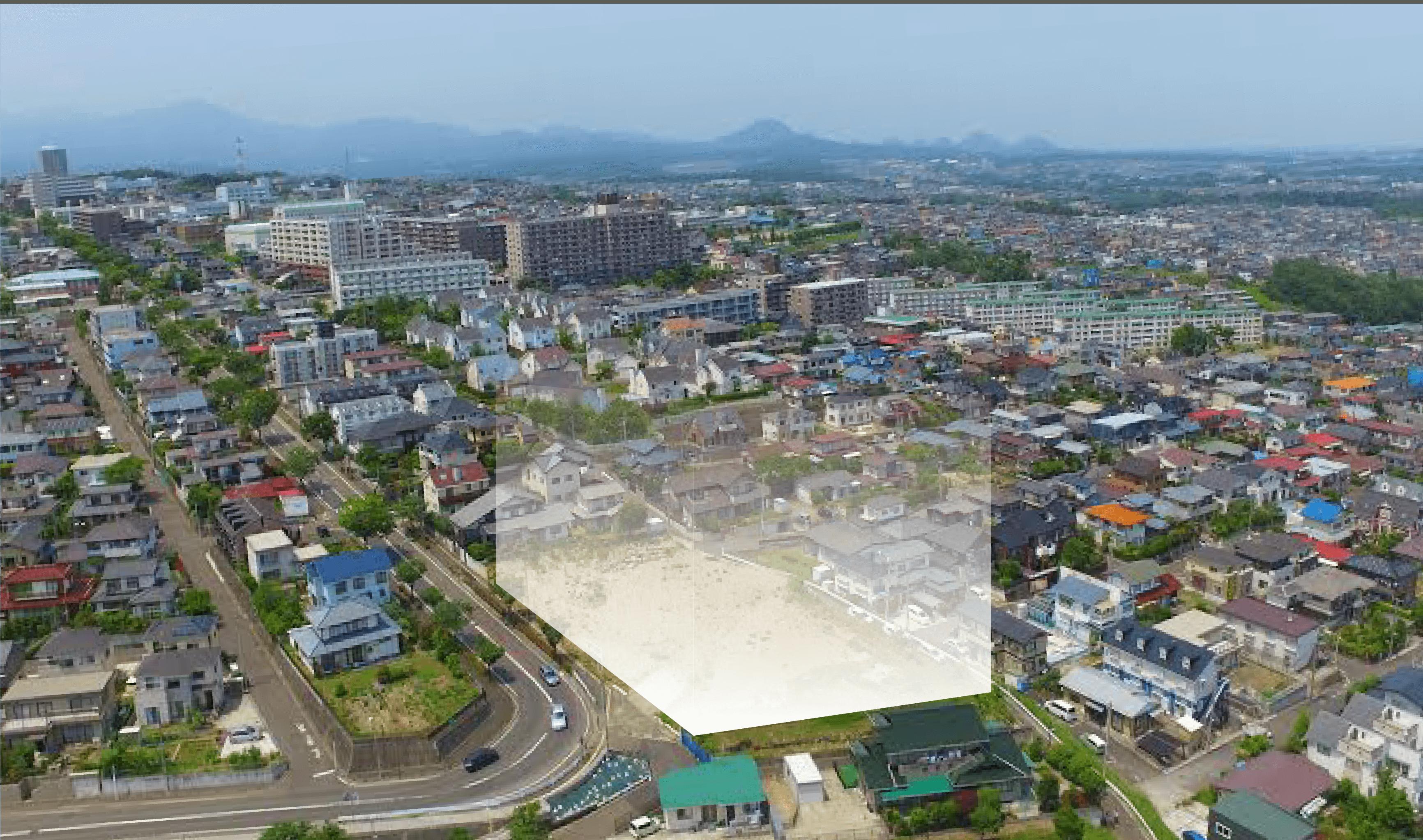 仙台市内アクセス抜群。 暮らしの夢を叶える、最大115坪の大型分譲地。