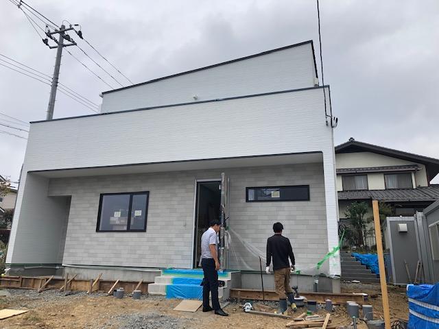 中山モデルハウス完成間近です!