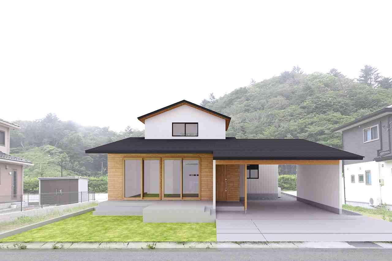切妻屋根のおおらかな佇まい『本と暮らす家』完成住宅見学会開催